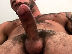 Venerable bear needs some proper prostate kneading to realize his dick rock-hard
