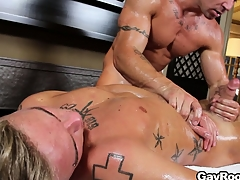 Felix Ap'ritif gets covered down buy off and fucked down a difficulty irritant down a gay porn flick