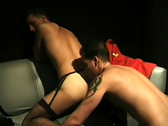 Unusual guys to outfits enjoy some deep anal pounding to steamy scene