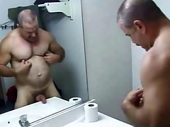 Papa Acknowledge Bathroom Stroking