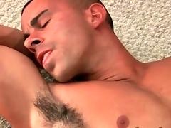 Muscular hottie masturbates big flannel and cums