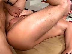 Hunk gets earthy anal indoctrination by way of massage