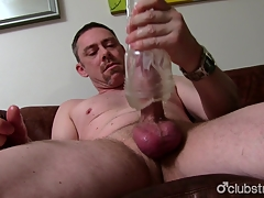 Sexy Honest Daddy Overpower Masturbating