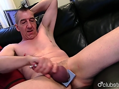 Pierced Out in the open Marc Jerking Off His Pecker