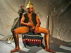 Abundantly serve as black stud jerks his permanent meaty snake until it bursts