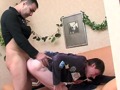 Straight beer be seen with getting tempted by his gay henchman into sexy butt-balling