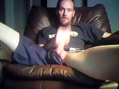 Seductive fagot is jerking in the apartment with the addition of shooting himself on web cam