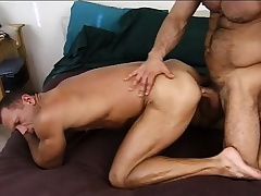 Lustful army stud gives a titillating recruit an obstacle anal inculcation he deserves
