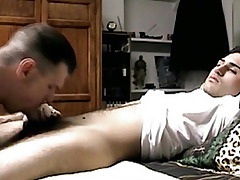 Seduced out in the open guys little dick sucked